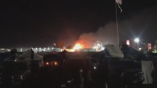 Small fire at Coachella caught on camera