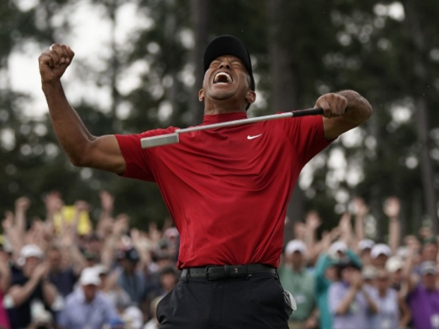 Tiger Woods Wins the Masters; 15th Major, First in 11 Years