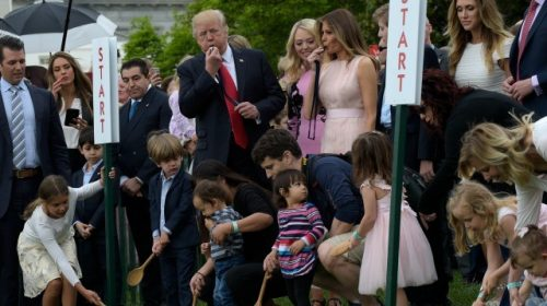 Watch Live: President Trump and First Lady Melania Host White House Easter Egg Roll
