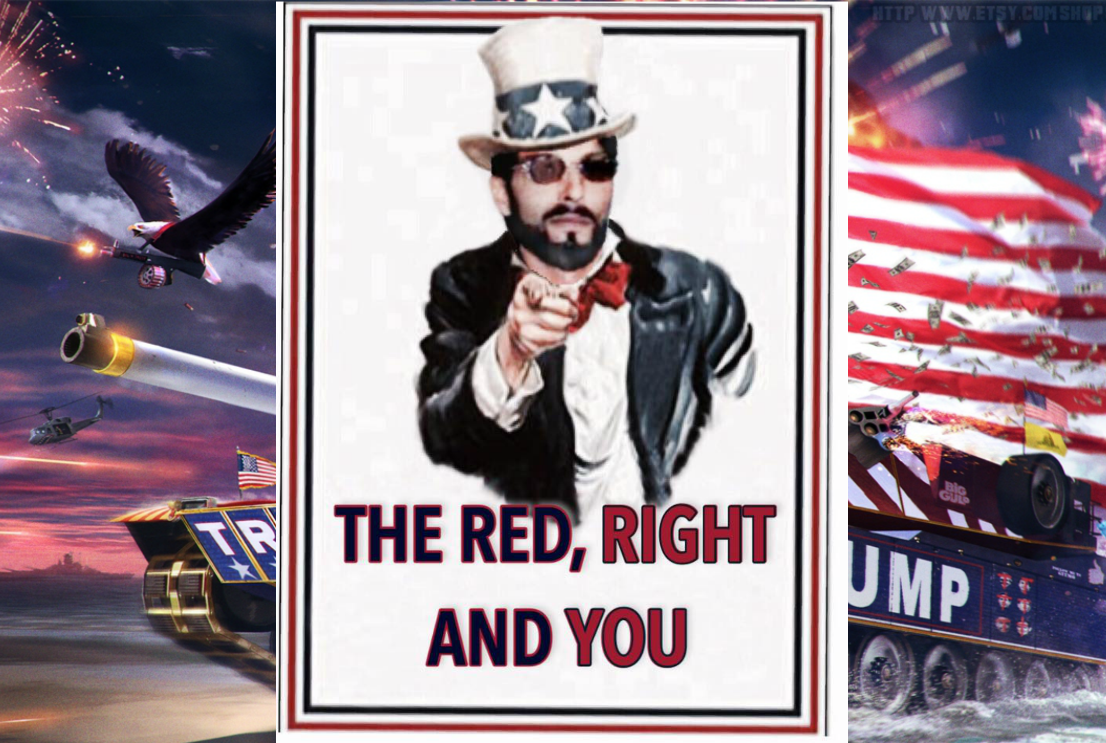 MAGA MEME By THE RED, RIGHT AND YOU
