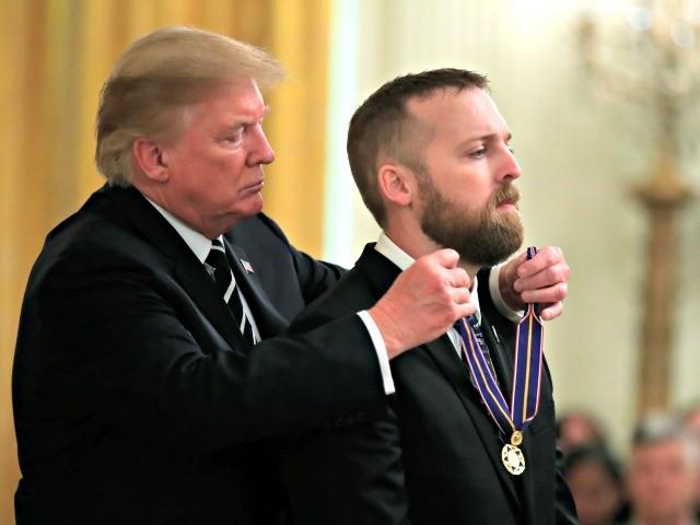 Donald Trump Awards Medal of Valor to Police Trooper Shot Twelve Times