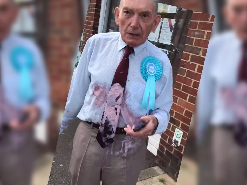 Police Investigate Polling Station Milkshake Attack on Elderly Veteran Wearing Brexit Party Rosette