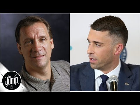 Ryan Saunders gets emotional about dad, Flip, during Wolves introductory press conference | The Jump