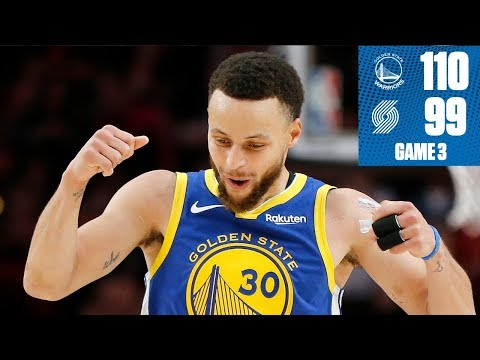 Warriors rally behind Steph Curry's 36 for 3-0 series lead vs. Blazers | 2019 NBA Playoff Highlights