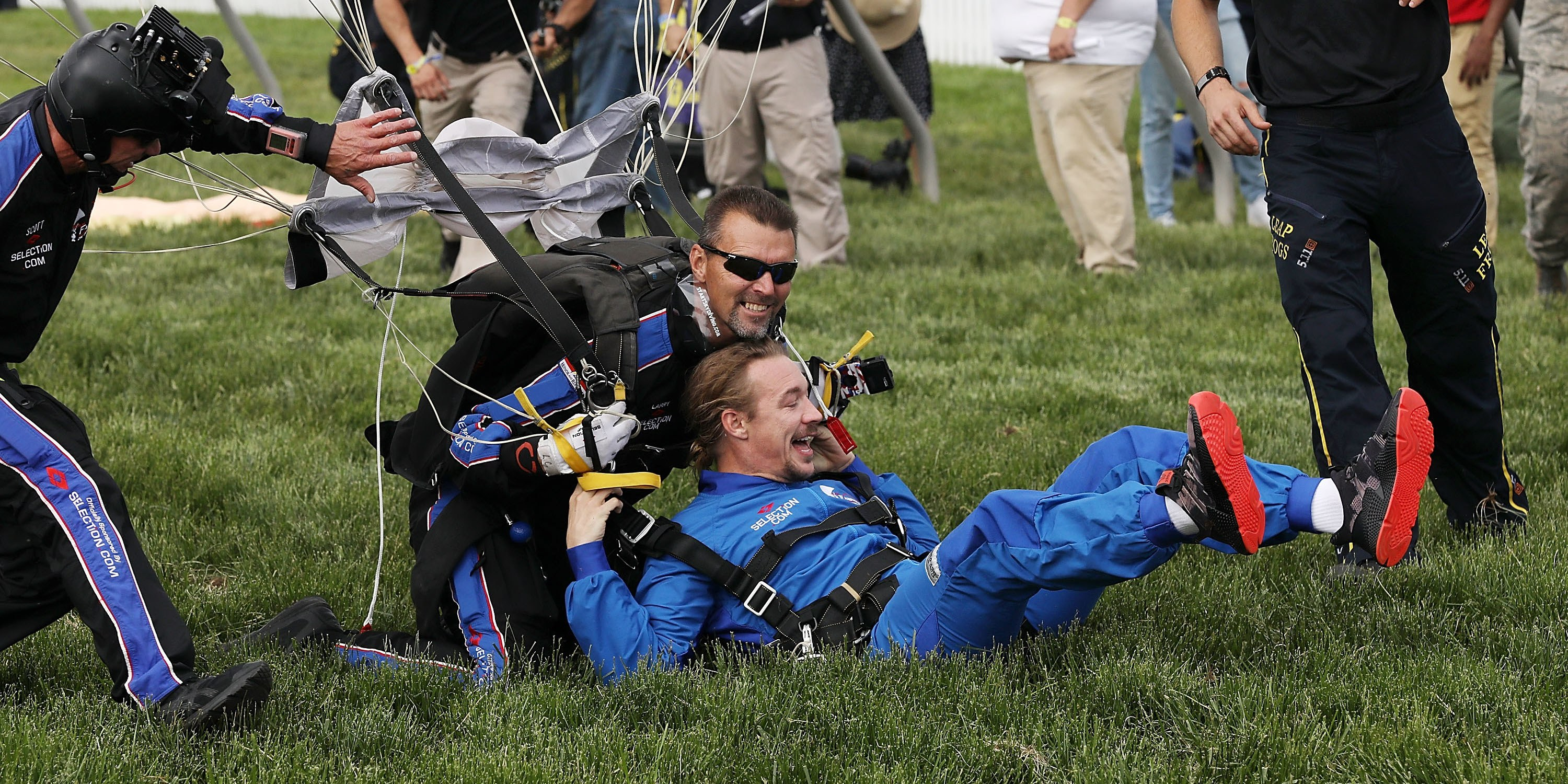 Watch Diplo Skydive Onto a Racetrack and DJ at a Horse Race