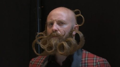 Winning by a whisker: moustache and beard fans compete in World Championship