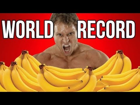 Most Bananas Eaten in 1 Minute (NEW World Record)