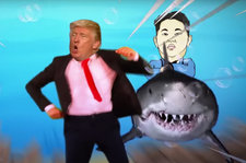 President Trump Sings 'Baby Shark' & Gets Chased by King Jong Un in New Parody Video: Watch
