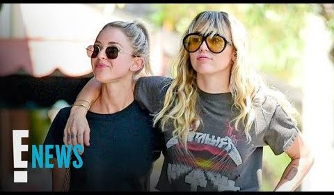 Miley Cyrus & Kaitlynn Carter Show PDA Again in Matching Outfits | E! News