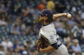 Padres beat Brewers 2-1 behind Lamet's 14 strikeouts