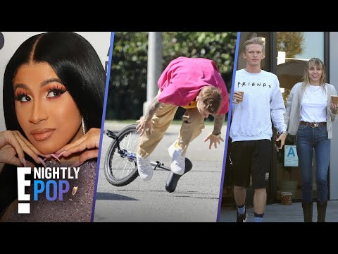 "Miley & Cody's Countdown, Bieber Wipes Out & Cardi's Titanic Gift - ""Nightly Pop"" 10/14/19 