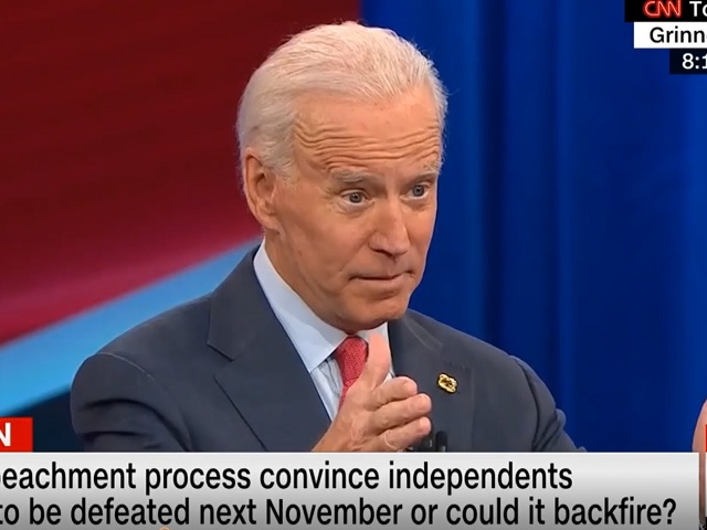Biden: 'I Don't Buy' that Senate Will Never Remove Trump
