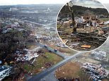 Aerial photos show destruction from deadly Alabama tornado that ripped off roofs and decimated homes