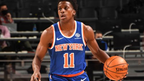 Frank Ntilikina's Knicks return remains up in air