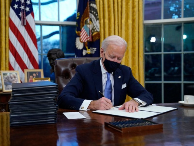 Joe Biden Signs Stack of Executive Orders to Roll Back Donald Trump Agenda