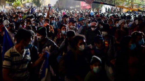 Migrant Caravan in Guatemala Pushes Through Border from Honduras -- Heading to U.S.A.