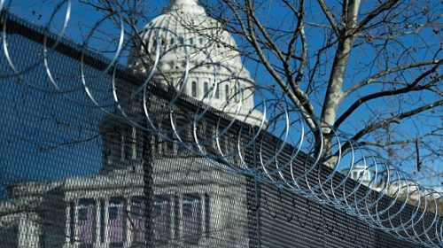 PHOTOS: Feds Build Walls in D.C. for Anti-Border Wall Joe Biden, Kamala Harris