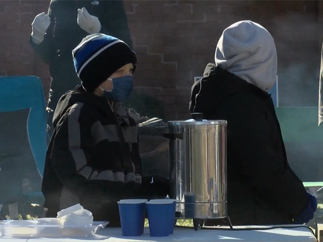 VIDEO: 8-Year-Old Opens Hot Cocoa Stand to Raise Money for Family of Fallen Officer