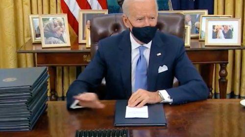 Wearing a Mask, Joe Biden Signs Executive Order Mandating Masks on Federal Property