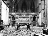 Incredible before and after images show bomb-hit Westminster Abbey in World War Two
