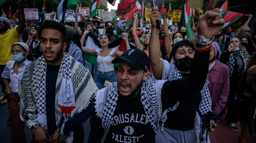 Anti-Israel Activists in NYC Call for Violent 'Intifada, Revolution,' Israel's Demise