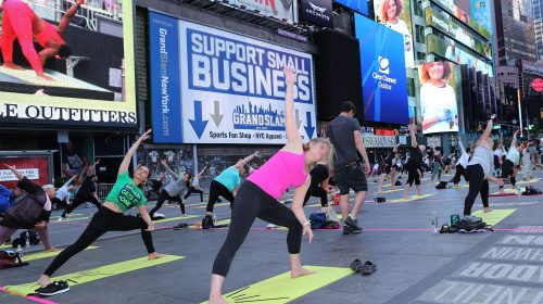Kathryn Garcia strikes yoga pose in campaign's final stretch