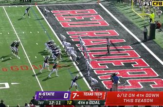 SaRodorick Thompson rushes for one-yard TD to extend Texas Tech's lead over Kansas State to 14-0
